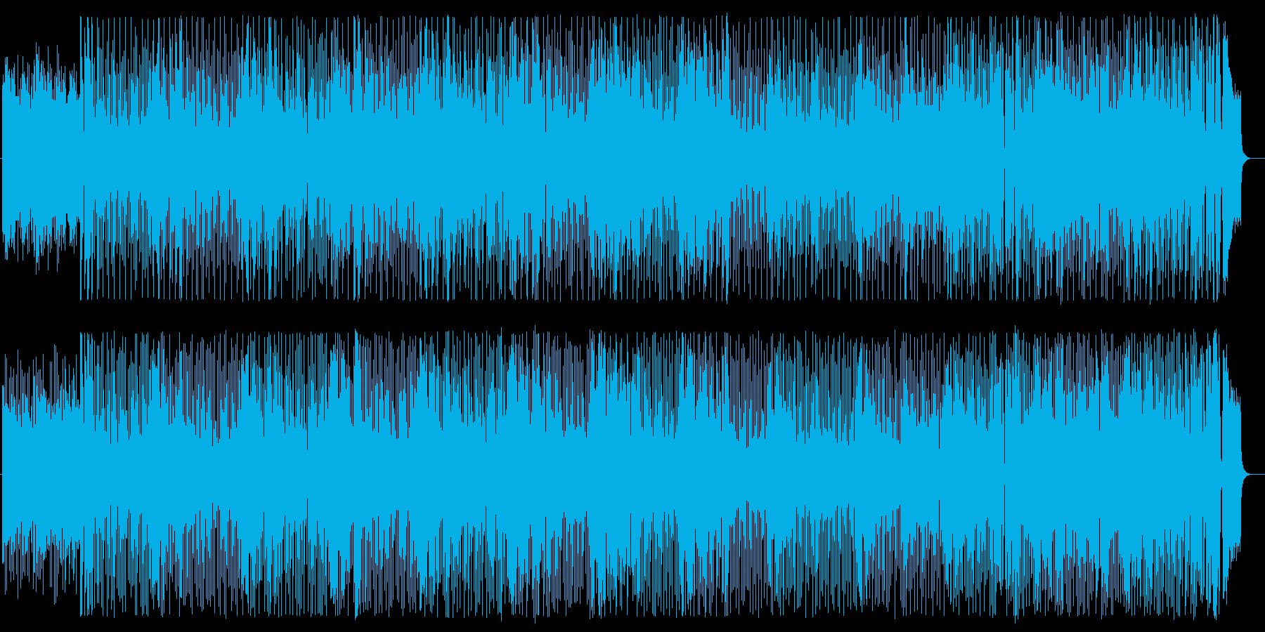 お洒落で現代的なミディアムテンポポップの再生済みの波形