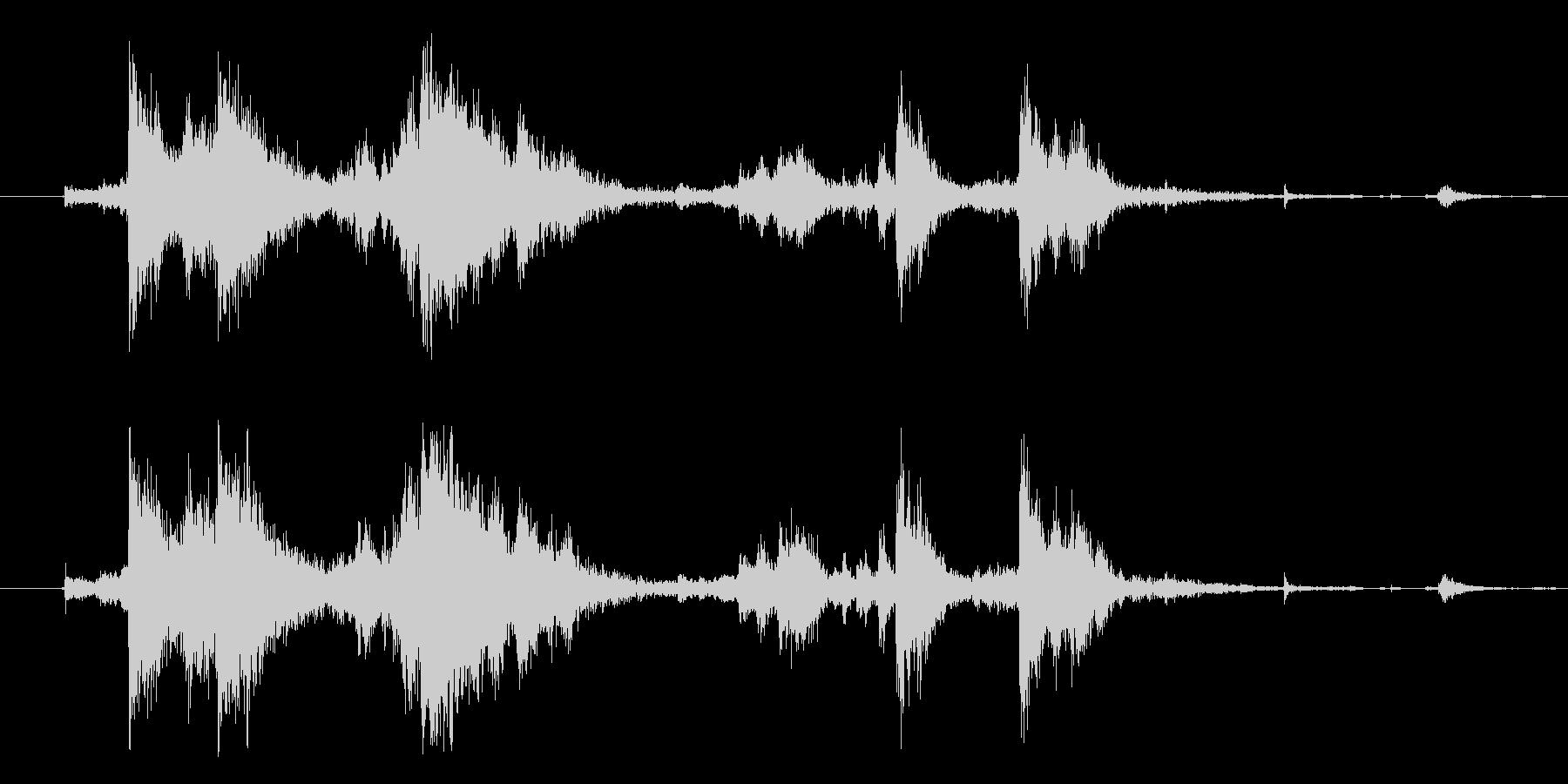 メタル クラッシュミディアム07の未再生の波形