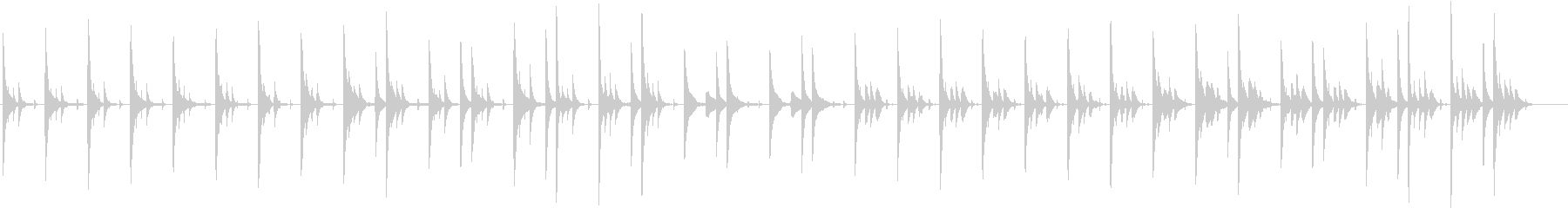 眠りを誘うようなゆったりとした曲の未再生の波形
