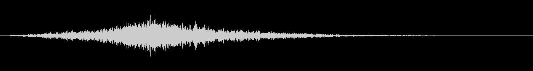 映画でよくあるライズヒットサウンドロゴ4の未再生の波形