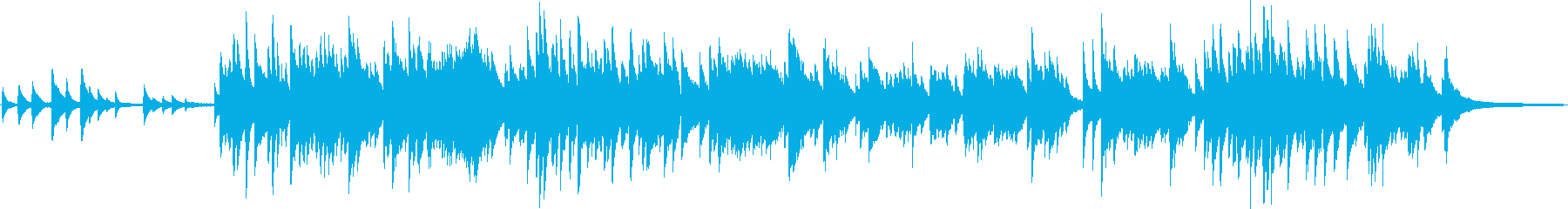 どことなく和風なピアノ曲の再生済みの波形