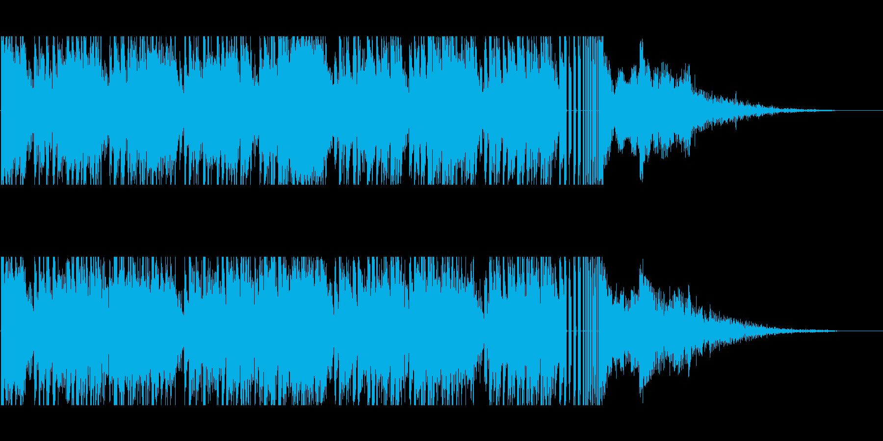 サイバーな雰囲気のジングルの再生済みの波形