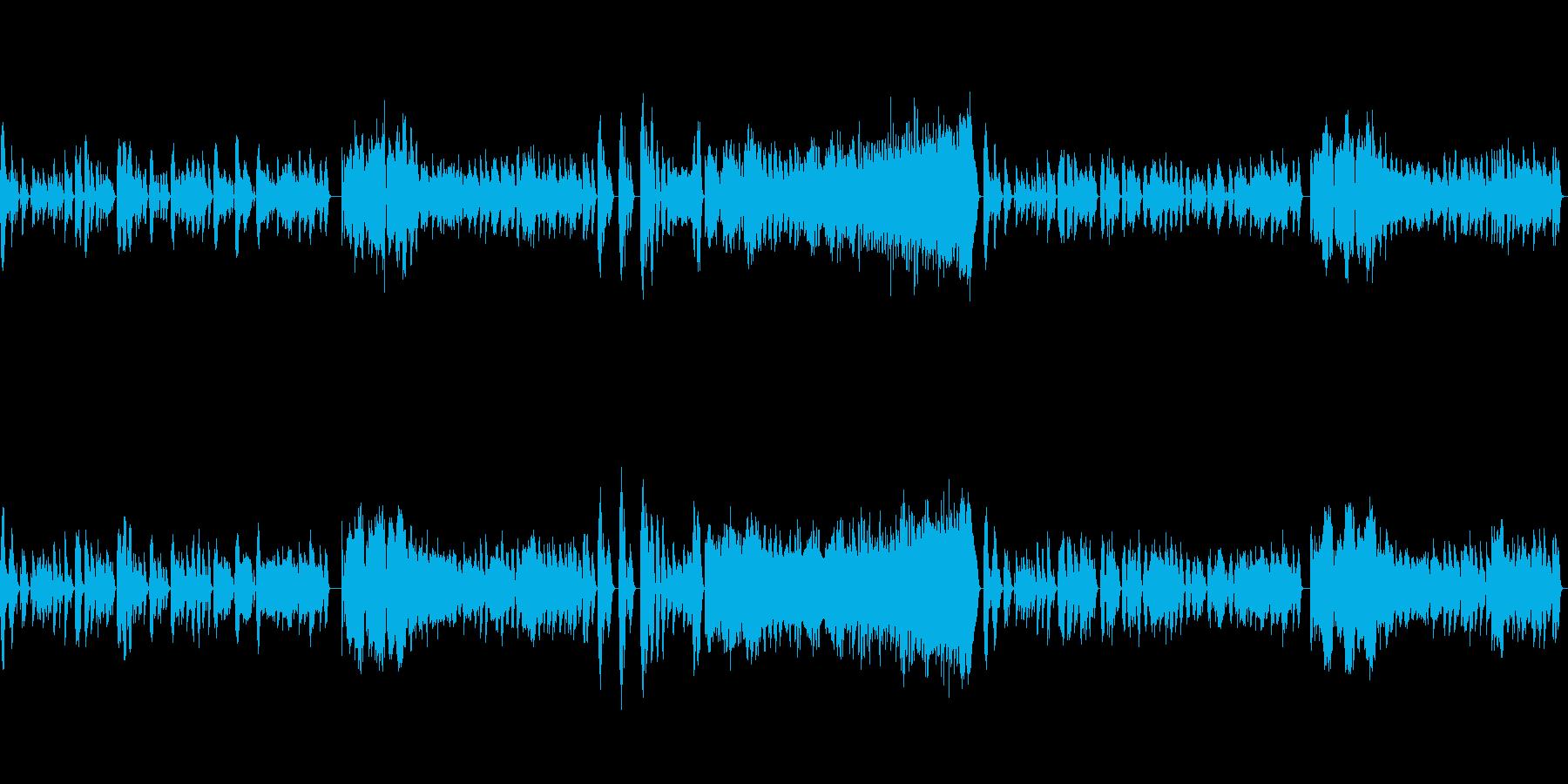 幻想的なクラシックピアノの再生済みの波形