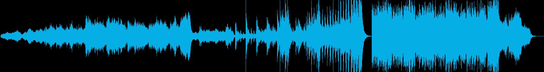 ホルンが奏でる壮大な映画音楽オーケストラの再生済みの波形