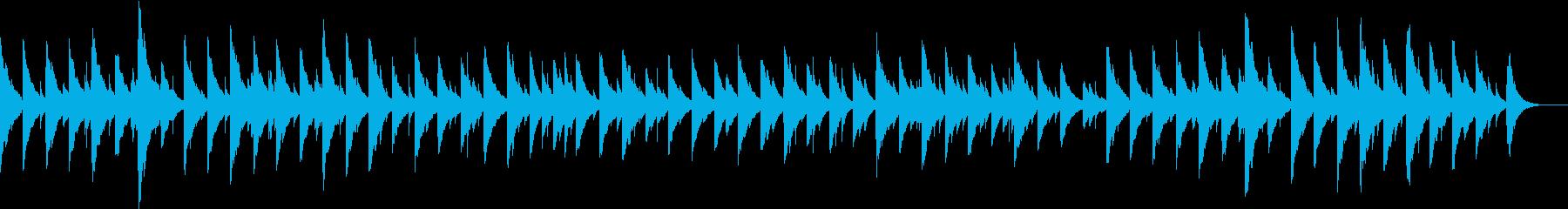 卒業式に流れてそうな癒しのオルゴールの曲の再生済みの波形
