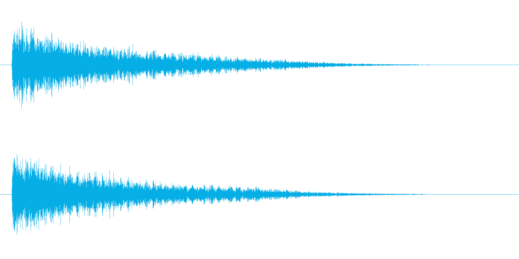 ピアノ効果音 低めのガーン ショックの再生済みの波形
