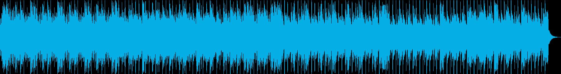 和風のゆったりとした琴と笛の再生済みの波形