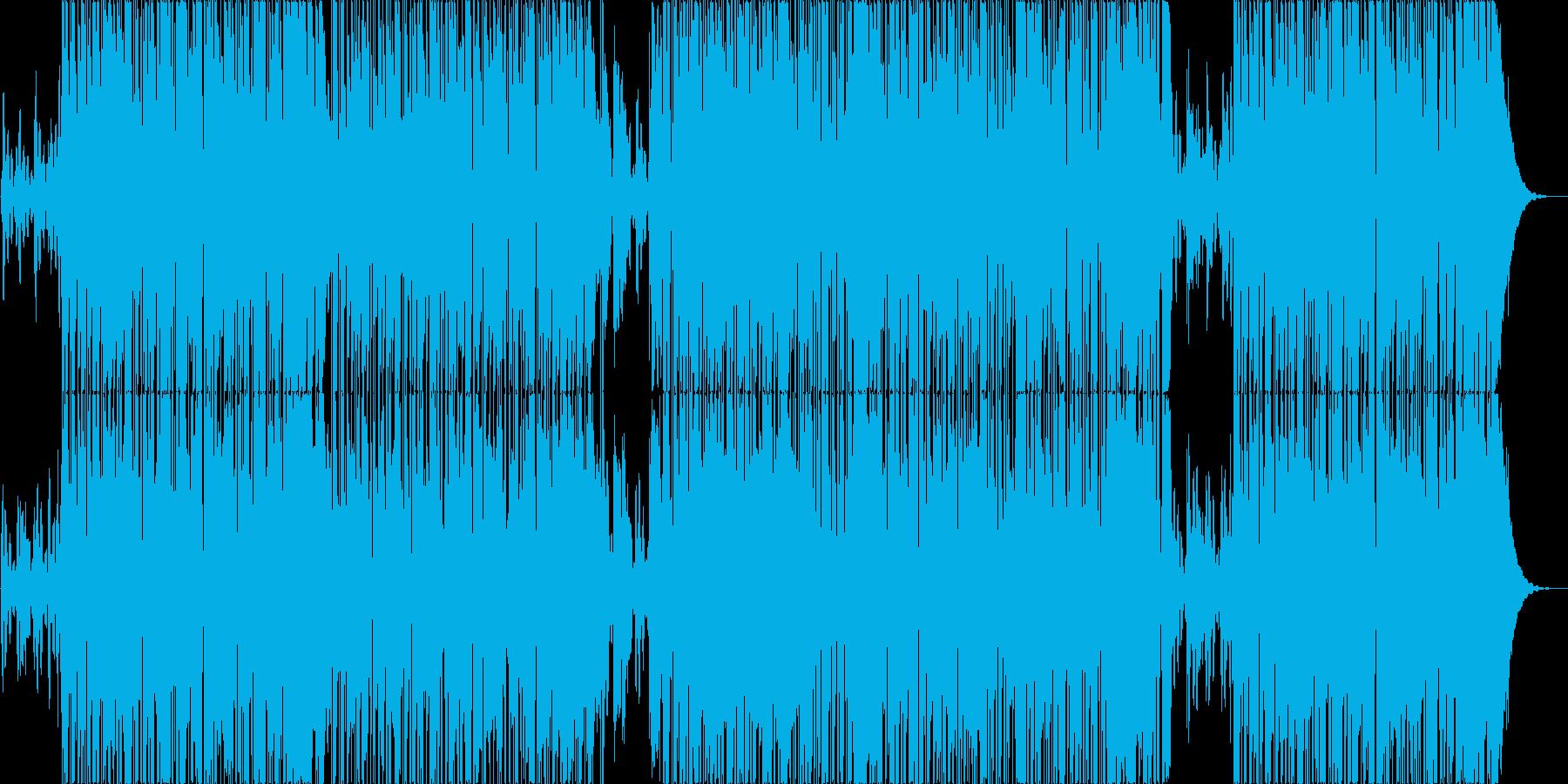 映像用ゆったりポップなスムースジャズの再生済みの波形