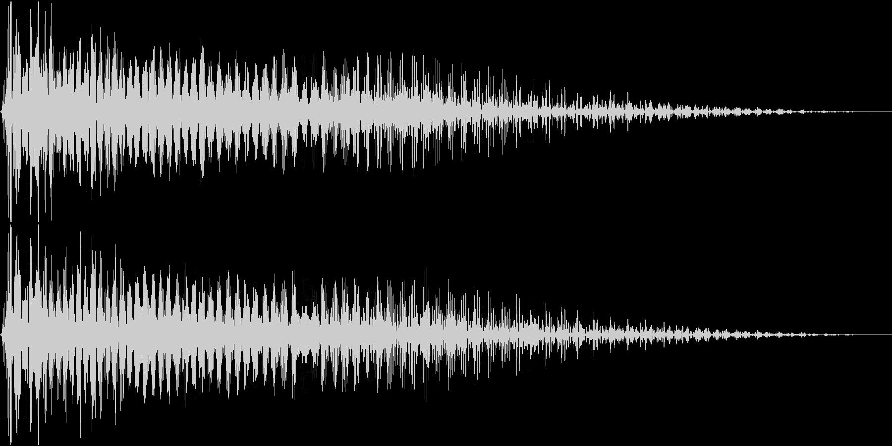 InvaderBuzz 発砲音 24の未再生の波形