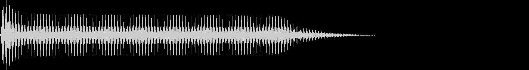 選択音 決定音 シンプル A09の未再生の波形
