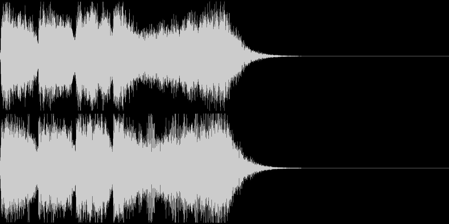 巨大怪獣/戦艦登場シーンの超重厚な曲4の未再生の波形