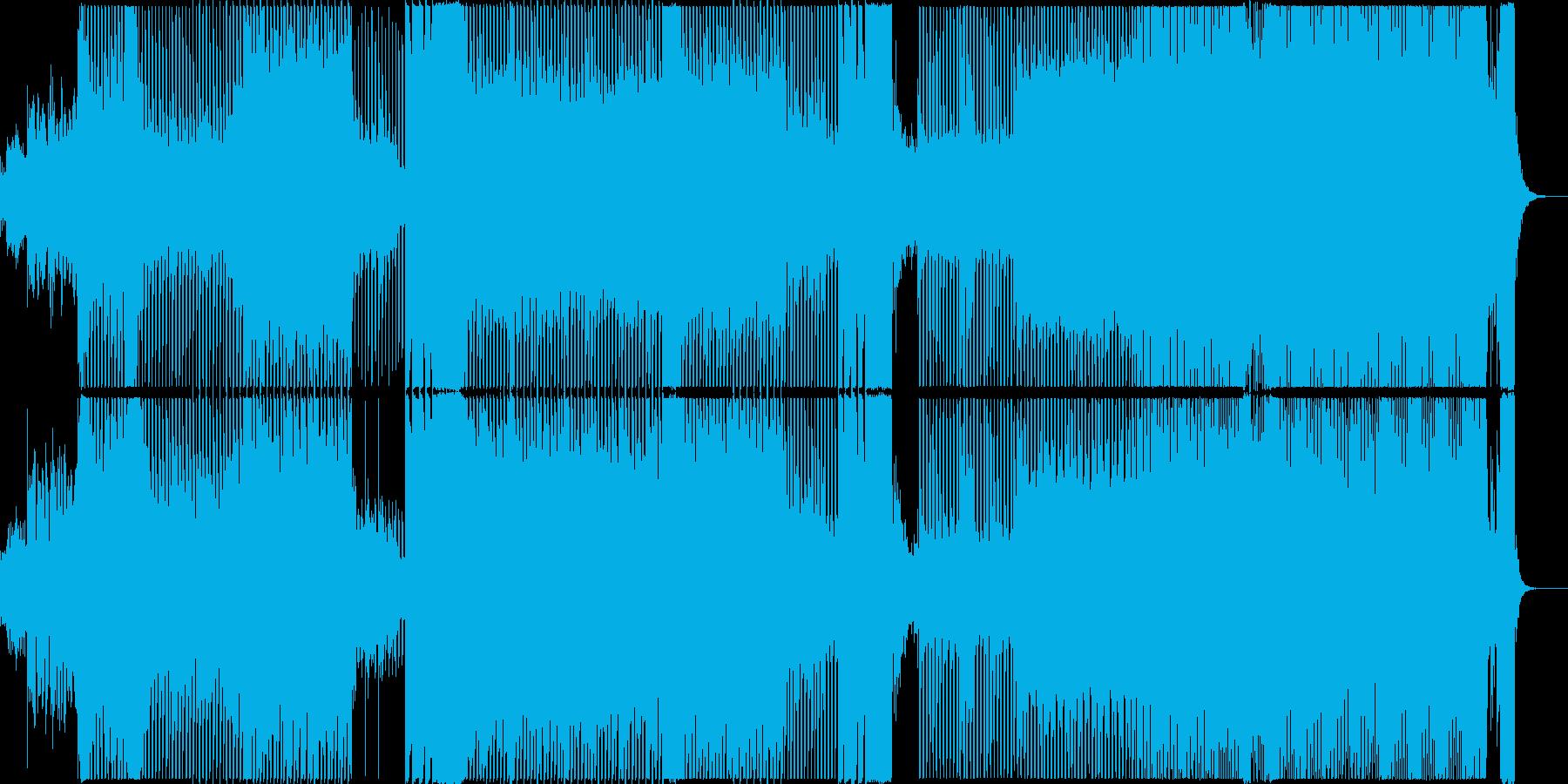 聞き馴染みのあるEDMの再生済みの波形