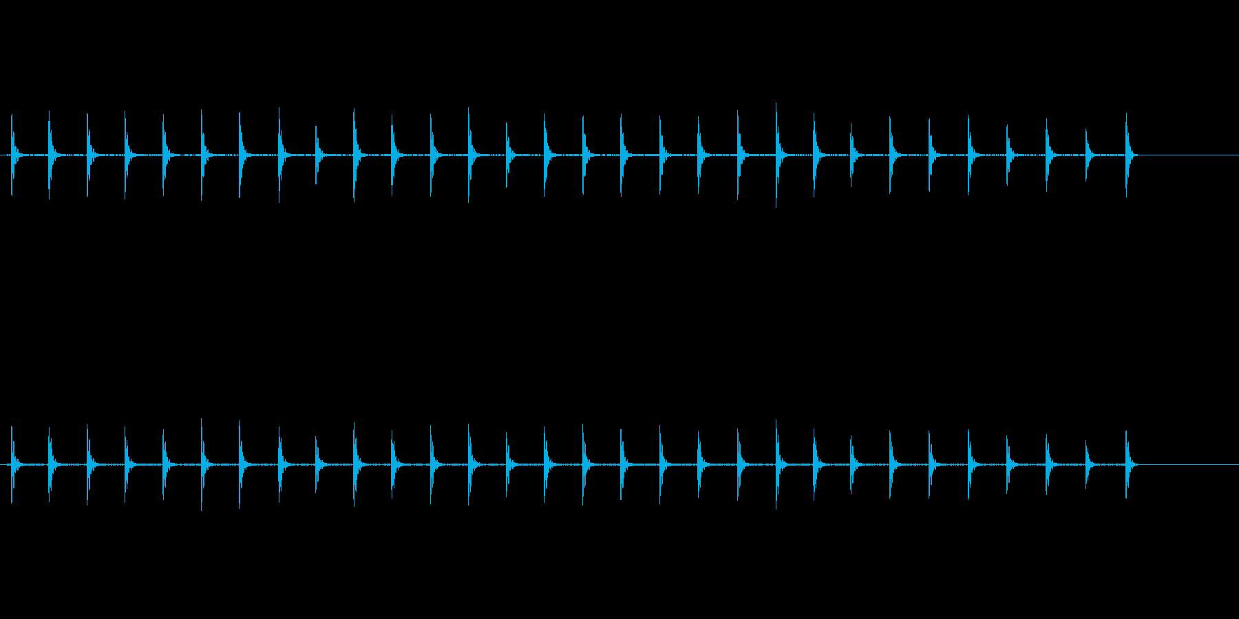 自然の中での木魚(背景音あり)の再生済みの波形