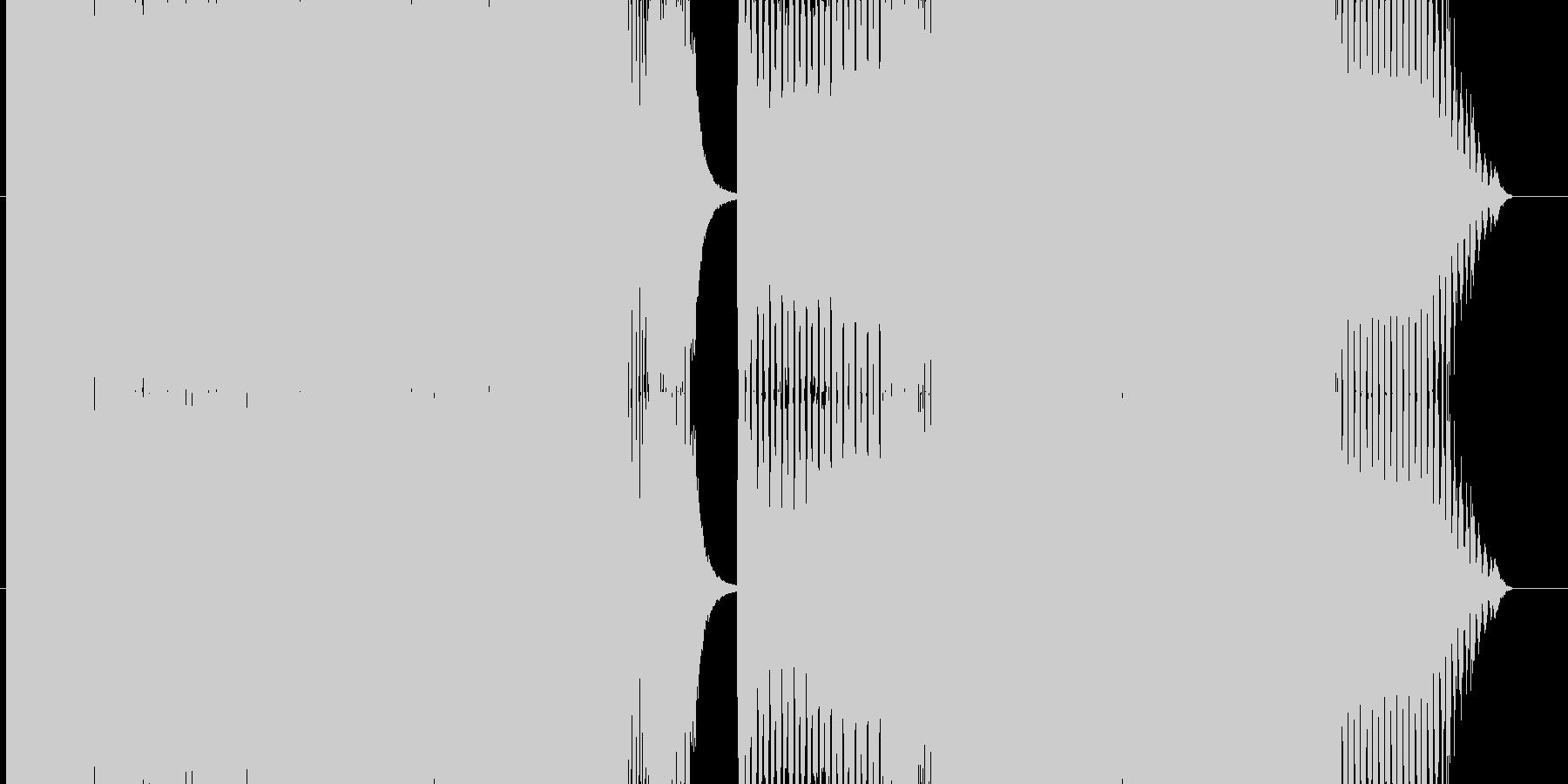 ノリのよいハイテンポトランスの未再生の波形