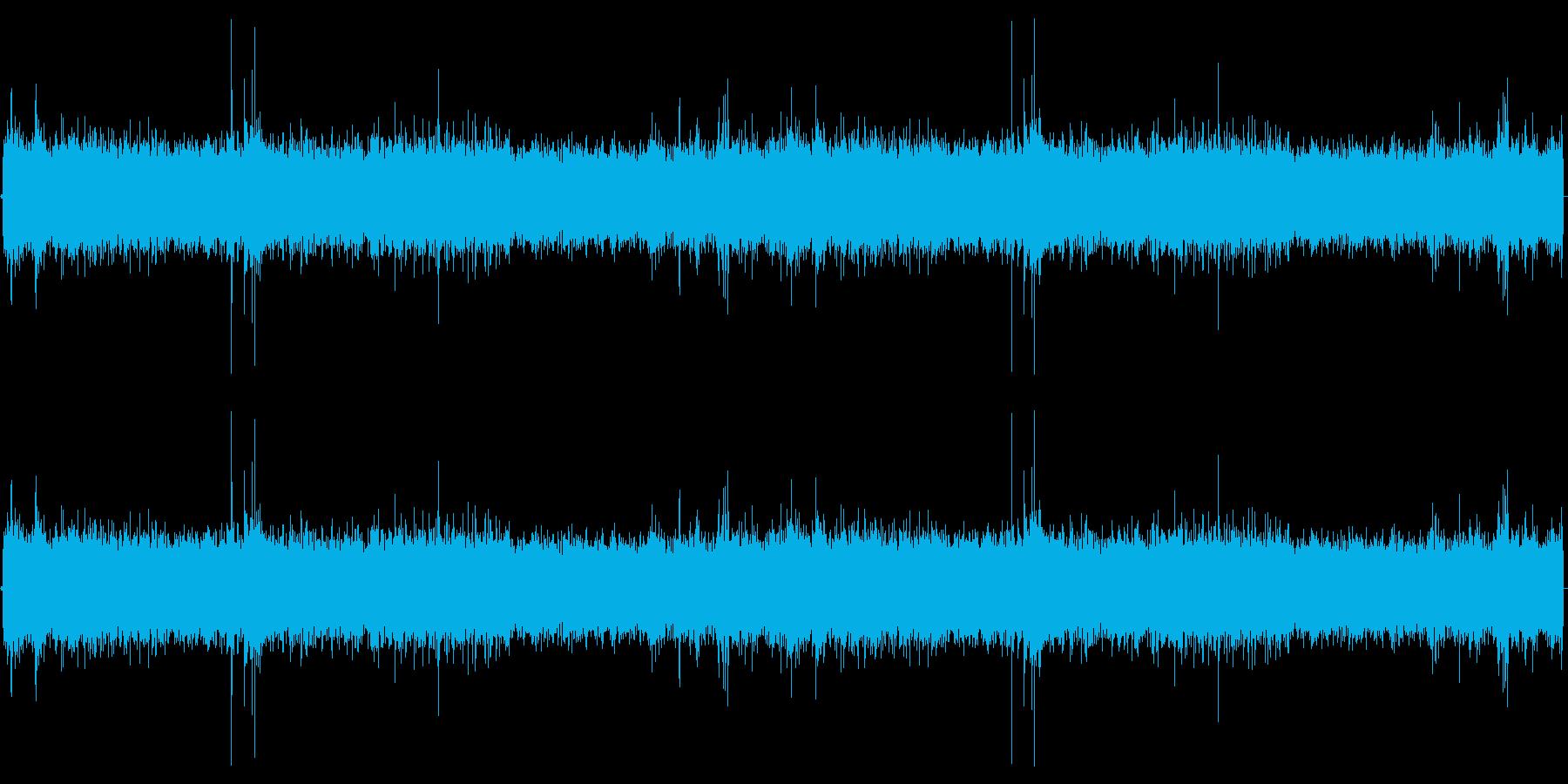 ザー(雨の音)の再生済みの波形