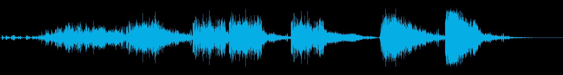 クラッシュする石柱の再生済みの波形