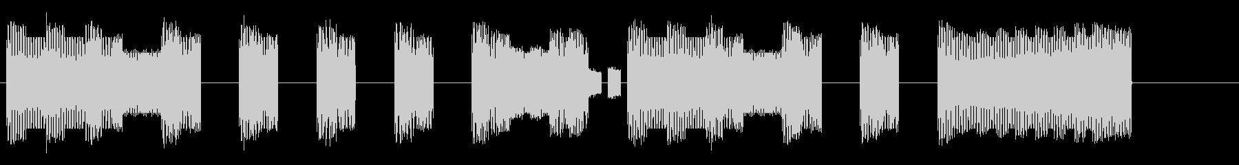 本格的ファミコンの中華風ジングルの未再生の波形