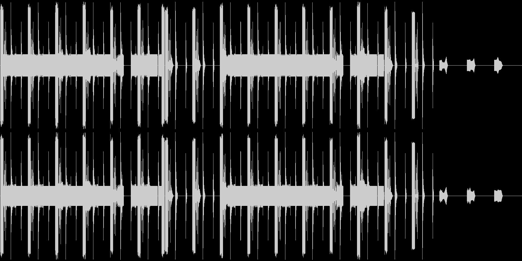 変わった曲ですの未再生の波形