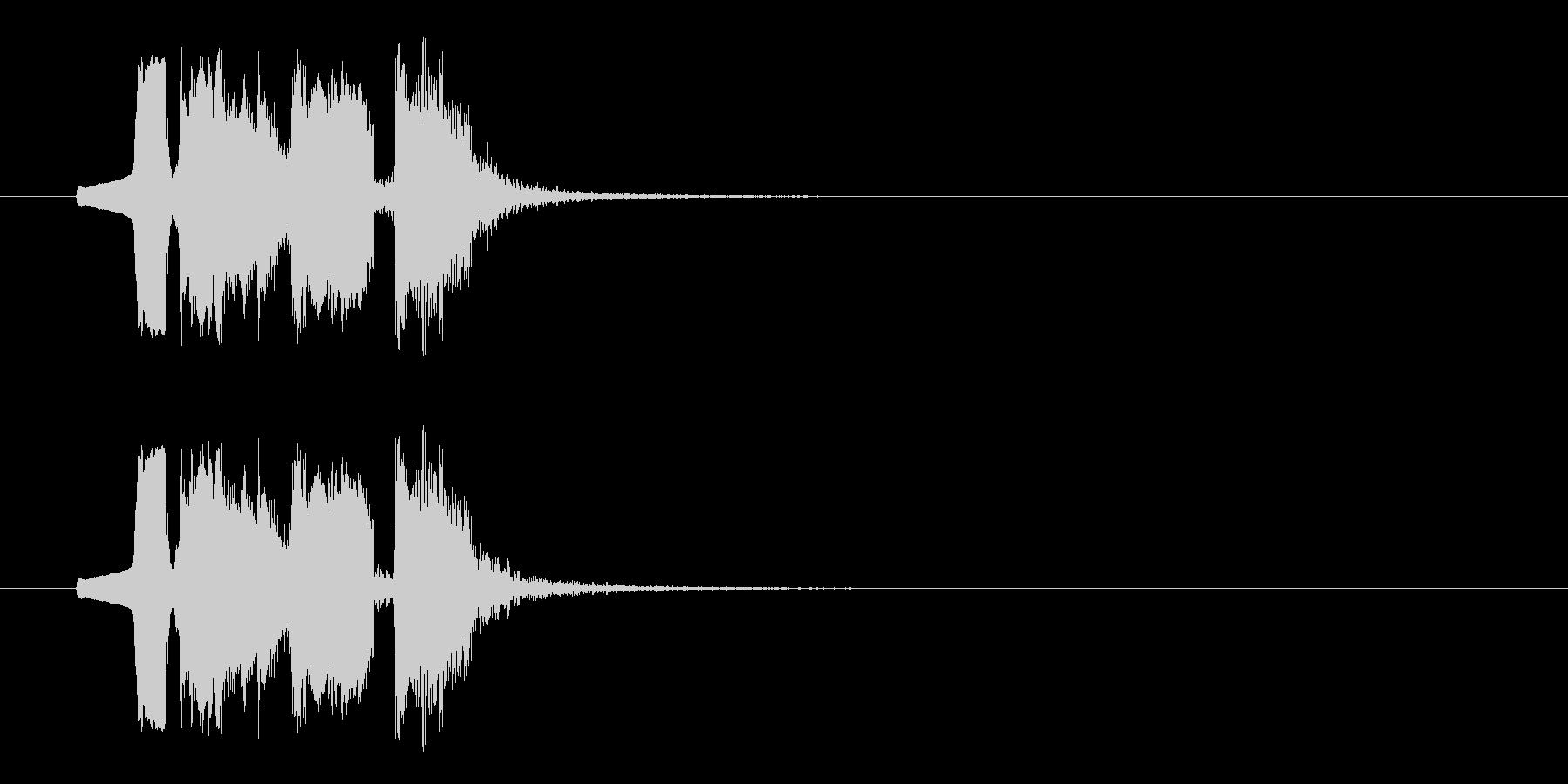 動きがありコミカルなBGMの未再生の波形