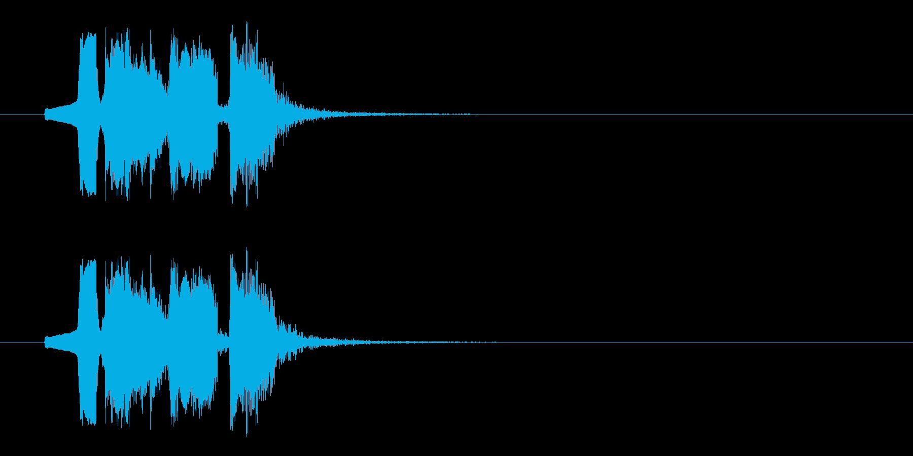 動きがありコミカルなBGMの再生済みの波形
