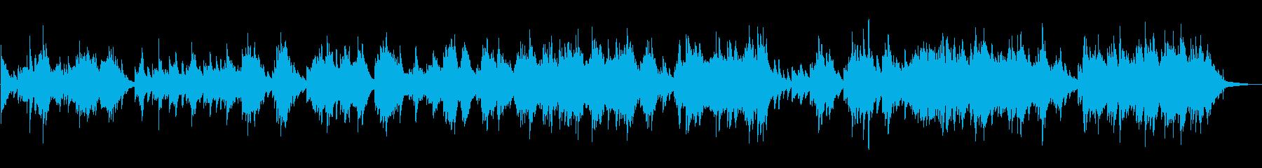 ピアノの旋律が綺麗なピアノソロの再生済みの波形