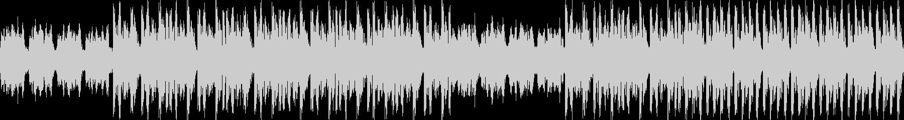 不穏な雰囲気のアルペジオBGMの未再生の波形