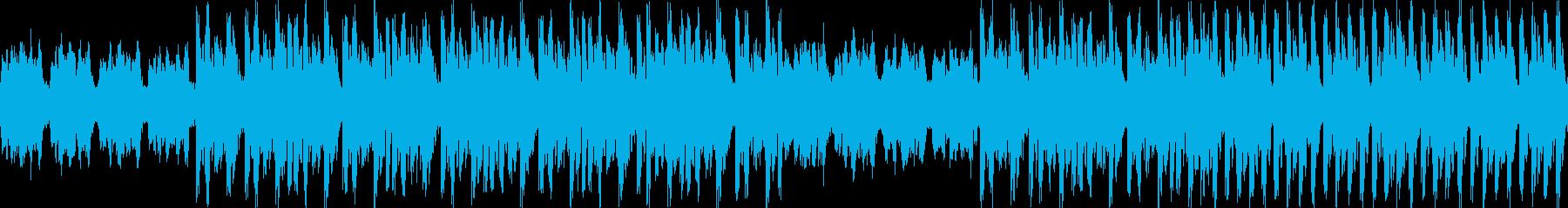 不穏な雰囲気のアルペジオBGMの再生済みの波形