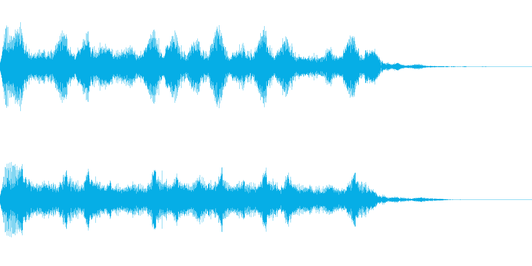 ビーム・UFO飛来音の再生済みの波形