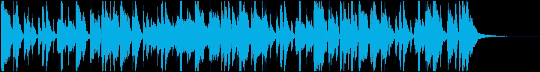 カッティングギター ファンキージングル の再生済みの波形