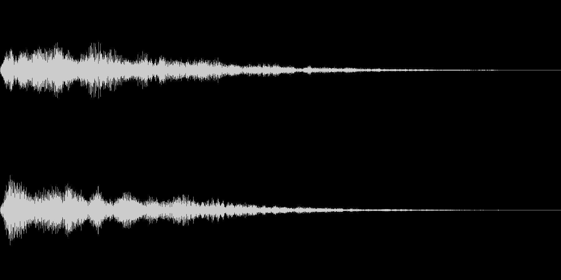 メニュー系SE 決定音4の未再生の波形