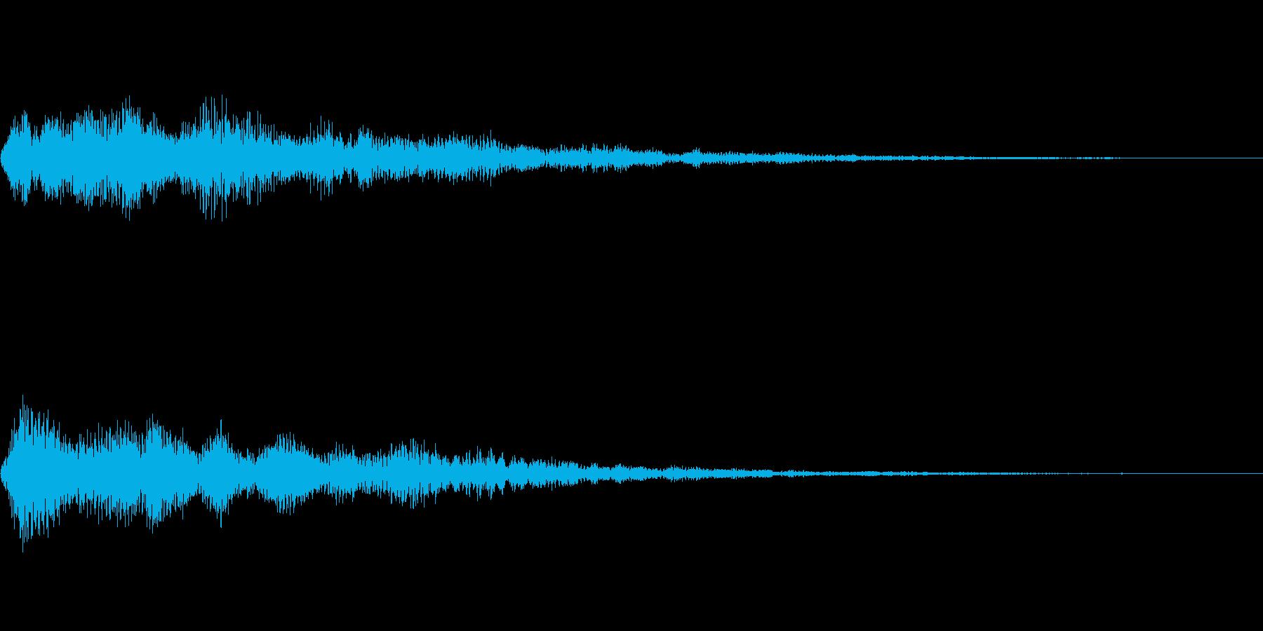メニュー系SE 決定音4の再生済みの波形