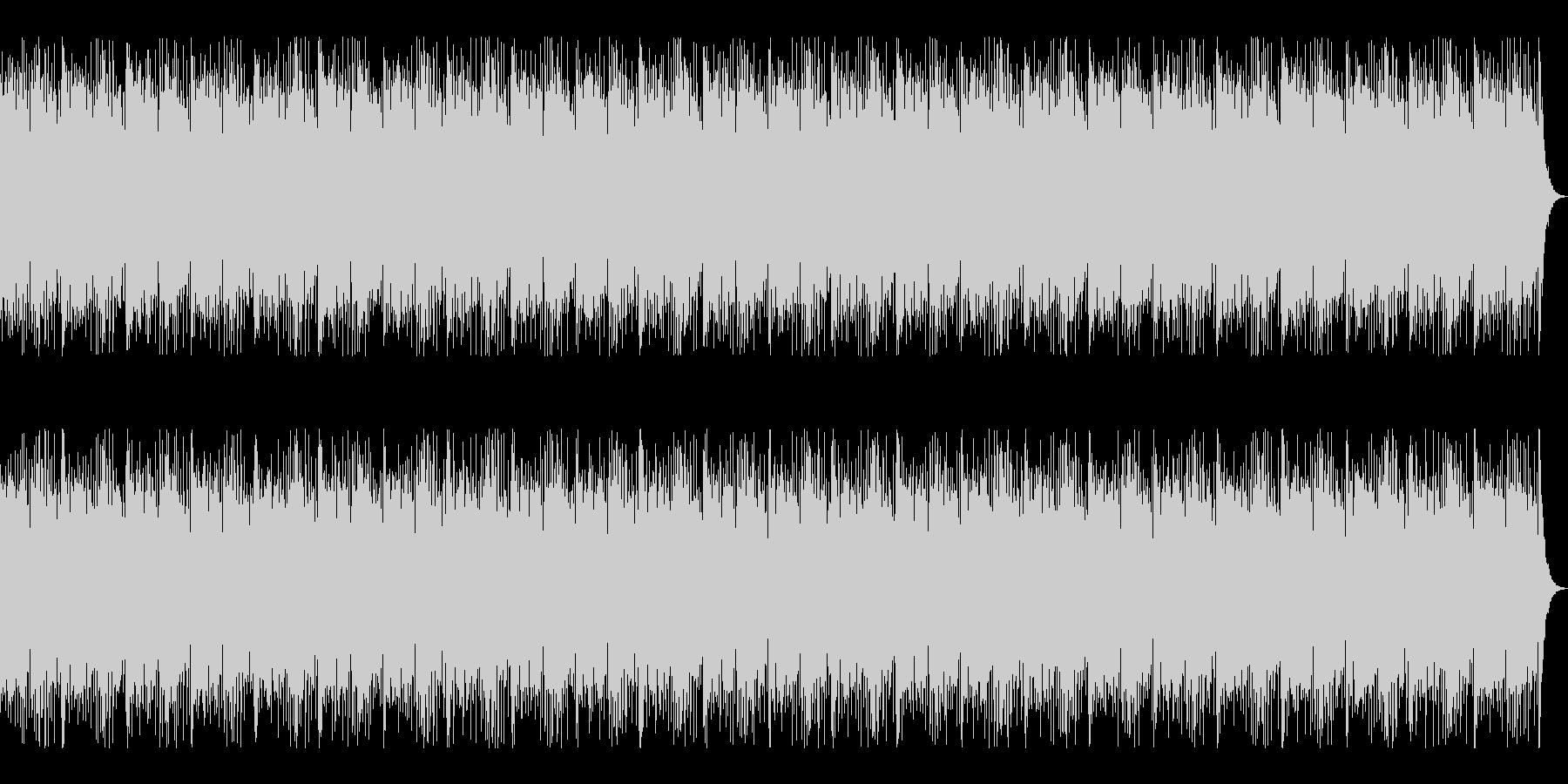 和ロックをイメージした尺八がメロのBGMの未再生の波形