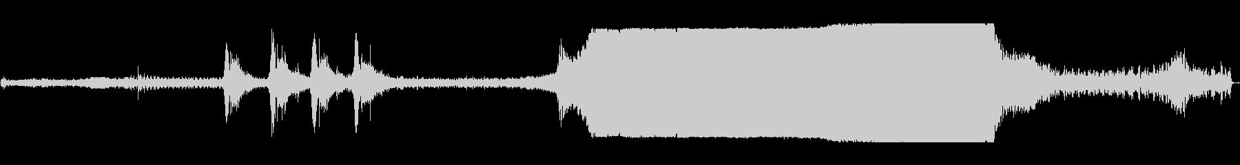 トラクタープルレース回転dの未再生の波形