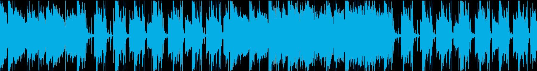 ゆったりコミカル/カラオケ/ループの再生済みの波形
