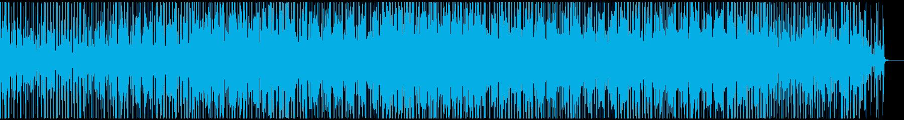 淡々としたカッティングギターのBGMの再生済みの波形