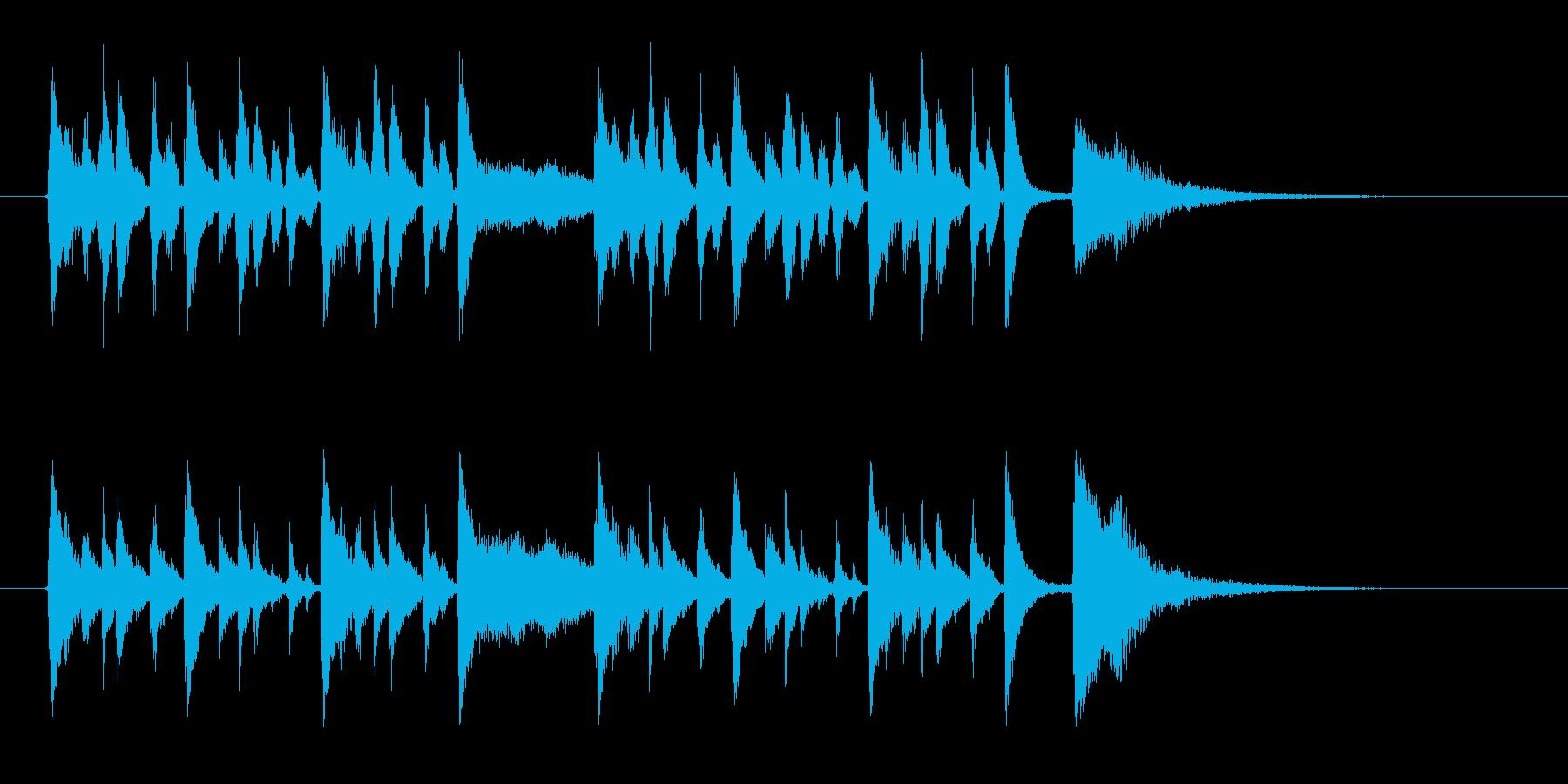 コミカルでポップな金属音ジングルの再生済みの波形