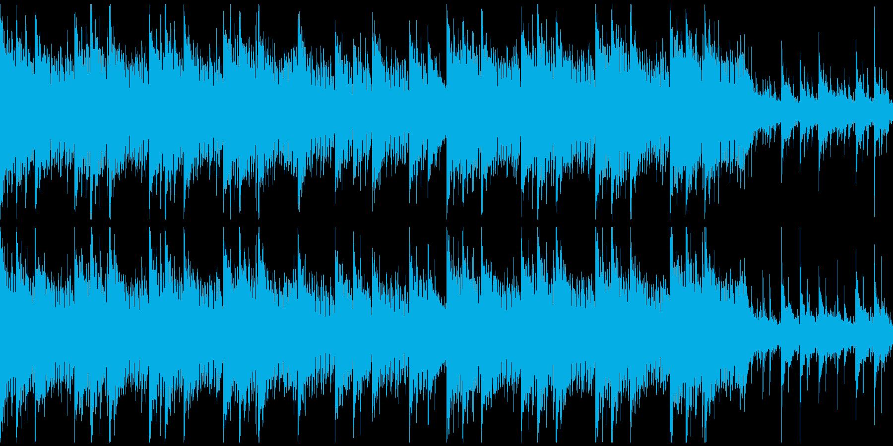 クールな映像向け、洗練された、ループの再生済みの波形