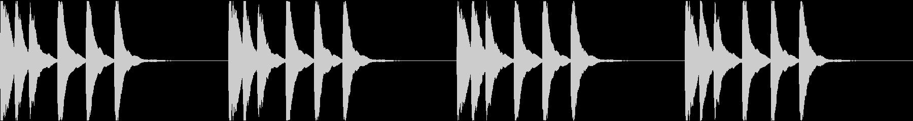 シンプル ベル 着信音 チャイム C18の未再生の波形