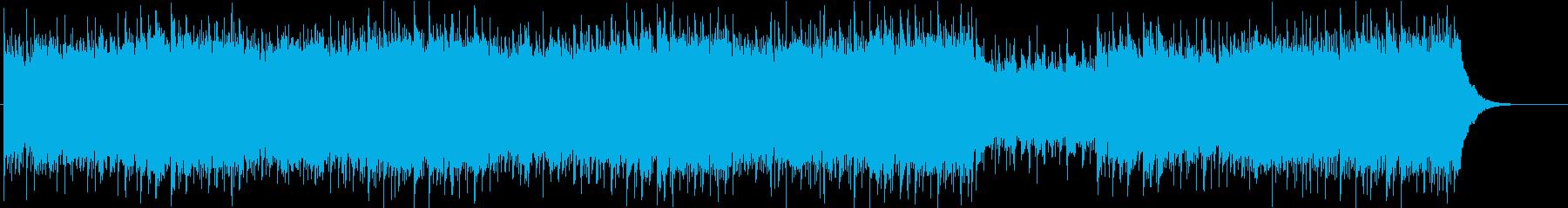軽快で不思議な雰囲気のあるピアノ曲の再生済みの波形