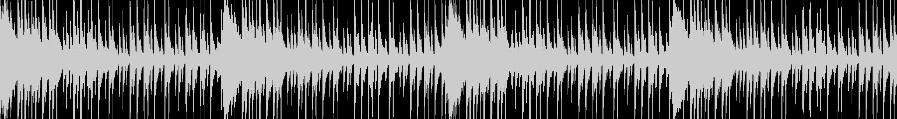 和風軽快なドラムのループBGMの未再生の波形