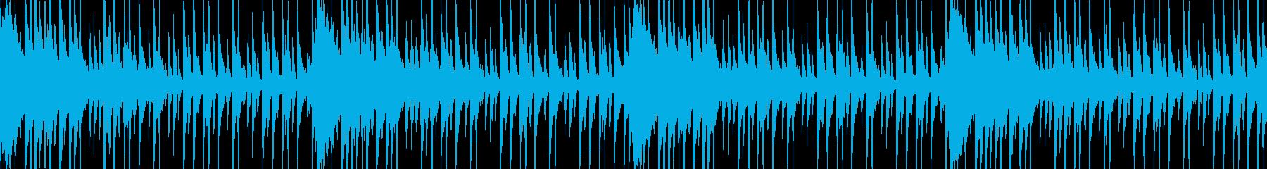 和風軽快なドラムのループBGMの再生済みの波形