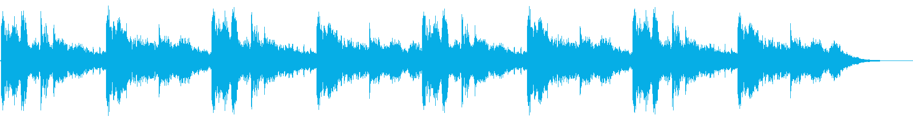 シューティング・映画などのタイトルロゴの再生済みの波形