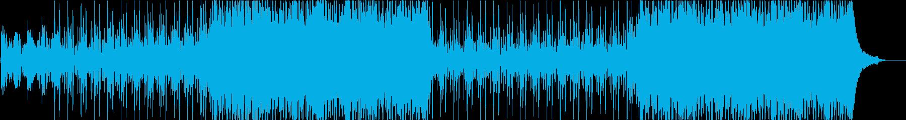 壮大で爽やか、ピアノとストリングスの再生済みの波形