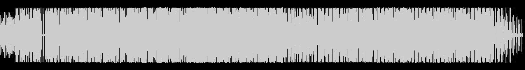 BGM用ハウスミュージックの未再生の波形