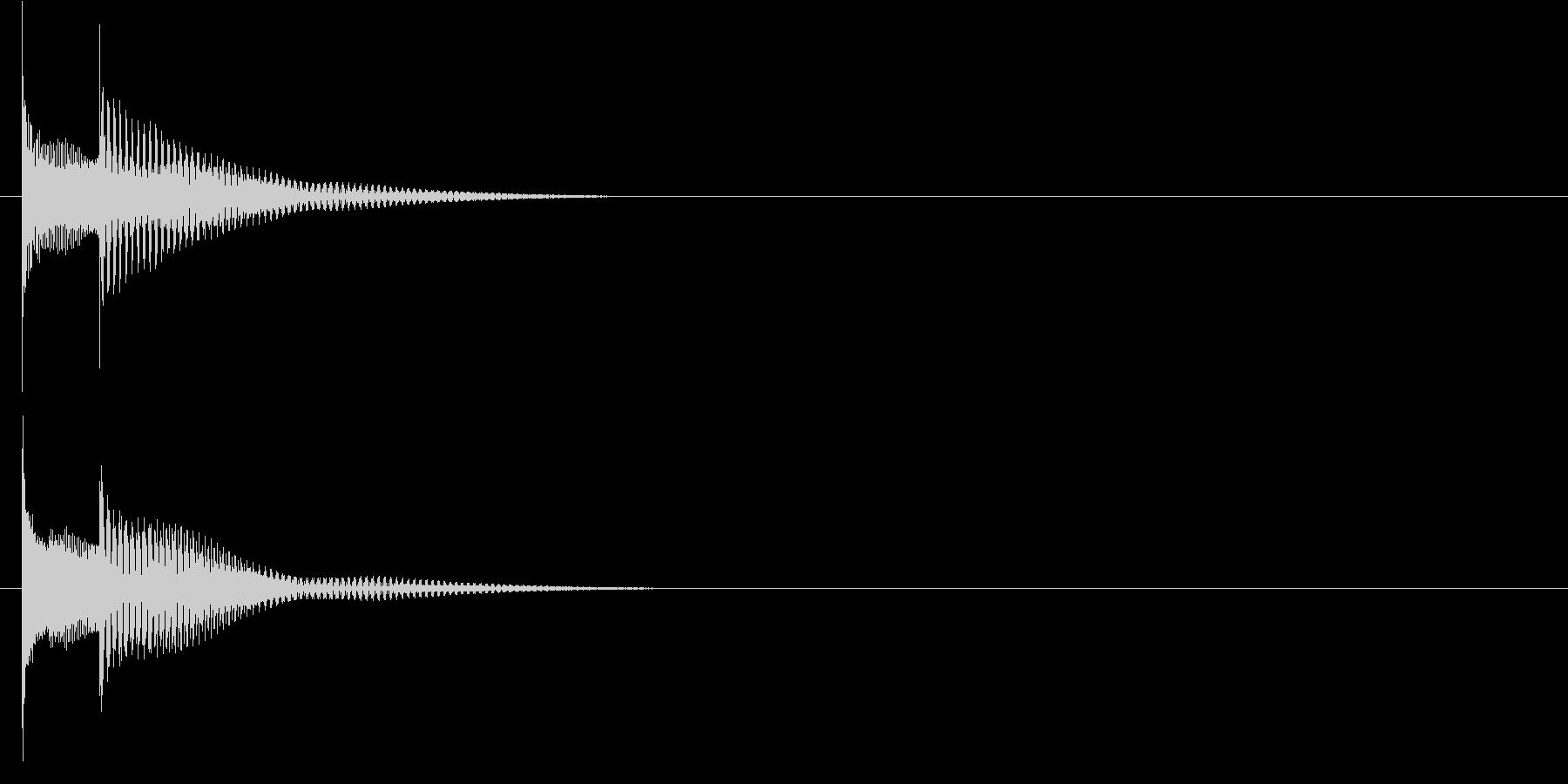 キャンセル音などに使えるピコン音の未再生の波形