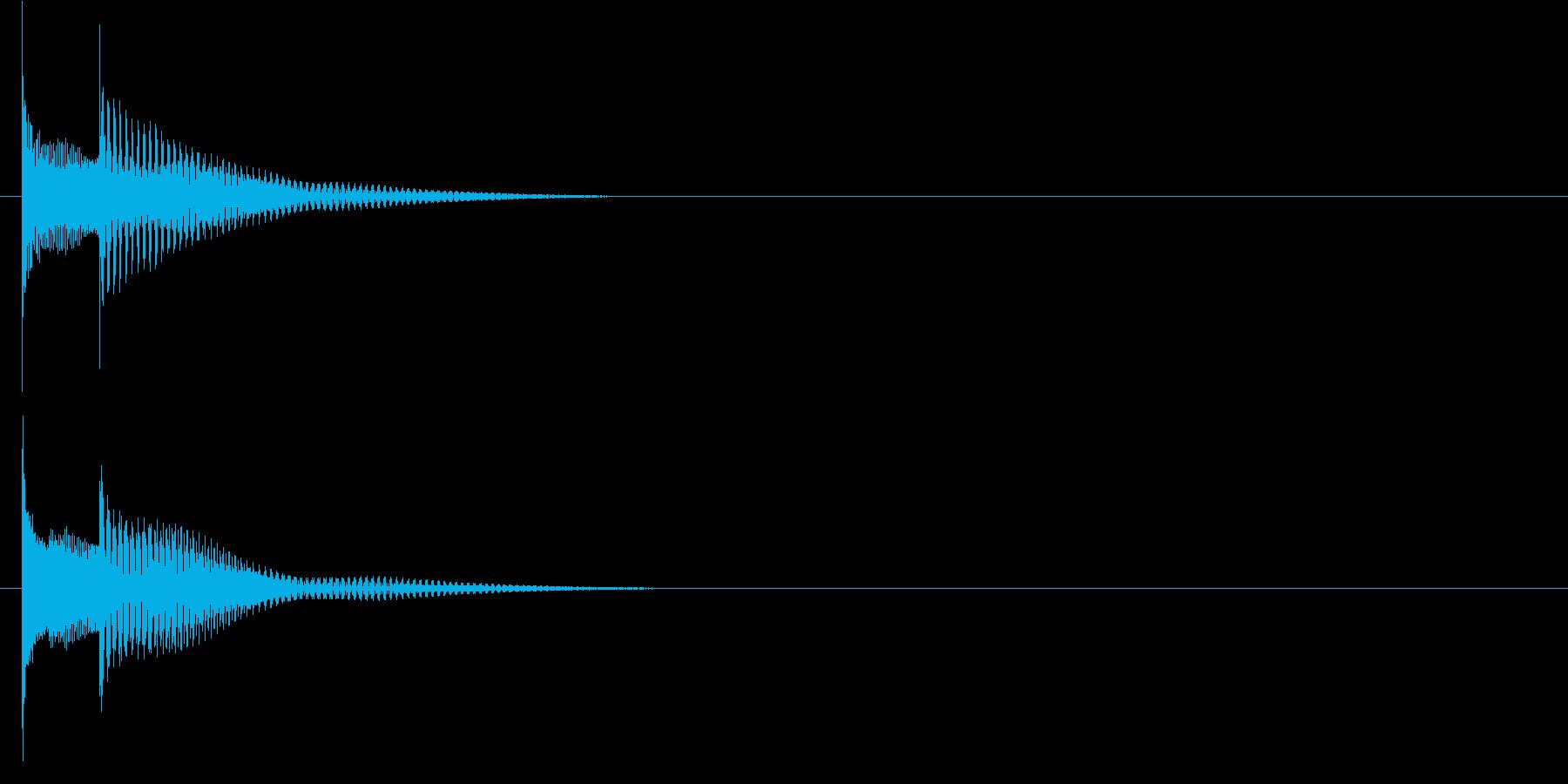 キャンセル音などに使えるピコン音の再生済みの波形