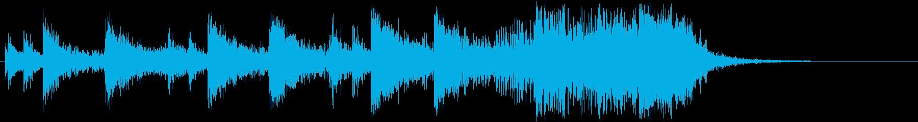 ハリウッドっぽいインダストリアルジングルの再生済みの波形