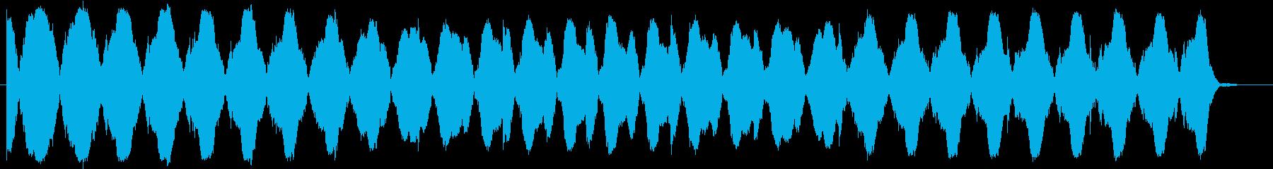 暗く不安になる音楽(ミステリー、ホラー)の再生済みの波形