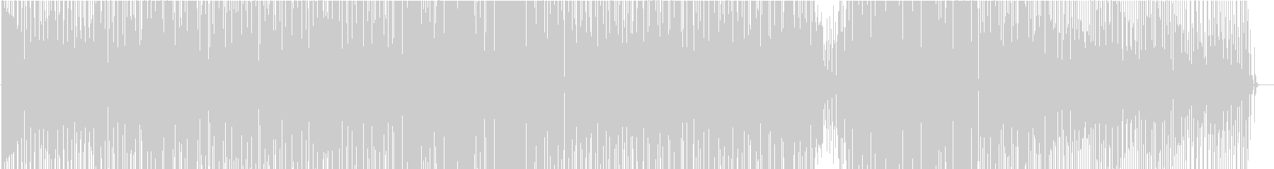 明るくノリの良いモダンディスコ系ビートの未再生の波形