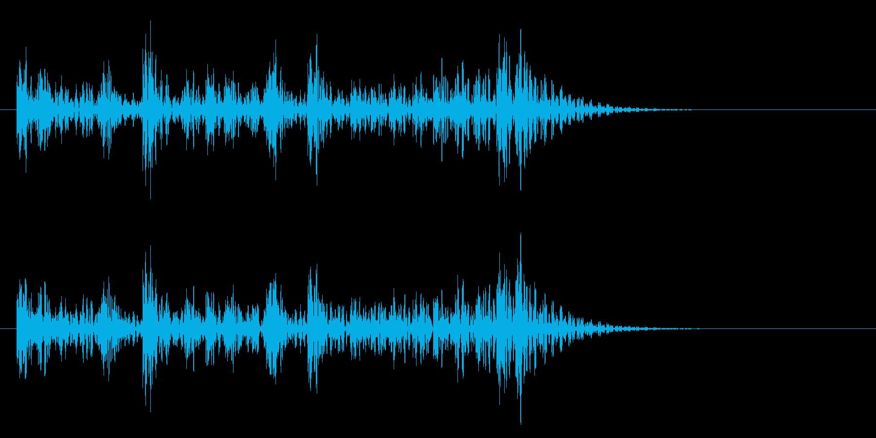 和太鼓アフリカ版Dunのフレーズ音+FXの再生済みの波形
